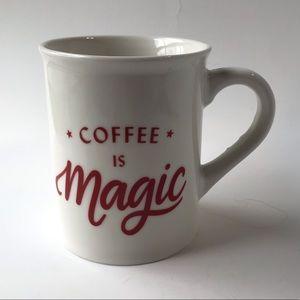 Starbucks Mug Cup Coffee is Magic 12oz Red White